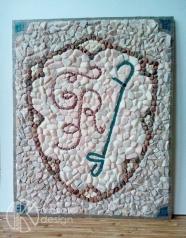 40х50 см. Stone mosaic panno